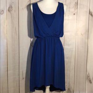 Express blue high low summer dress Size Large